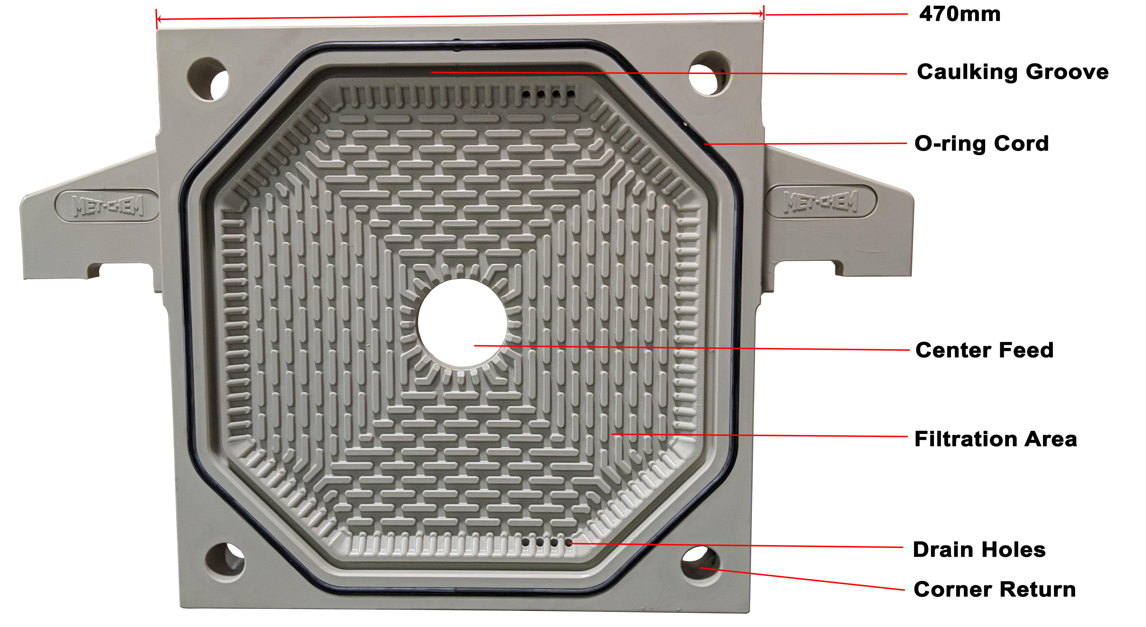 470mm Filter Plate